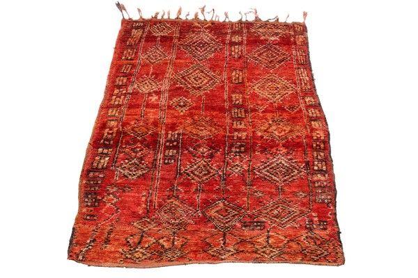 #Vintage Boujad Carpet 1960s | Vinterior London  #interiors #design #red #furnishings #home