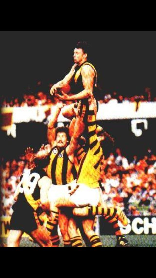 Michael Roach, 1980 Premiership forward flying high!