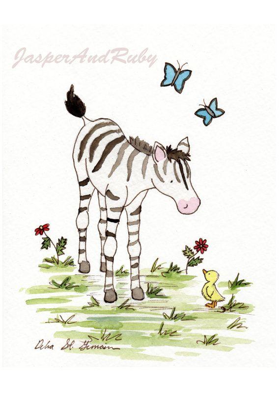 Hey, I found this really awesome Etsy listing at https://www.etsy.com/listing/91497825/zebra-nursery-art-childrens-wall-art-5x7