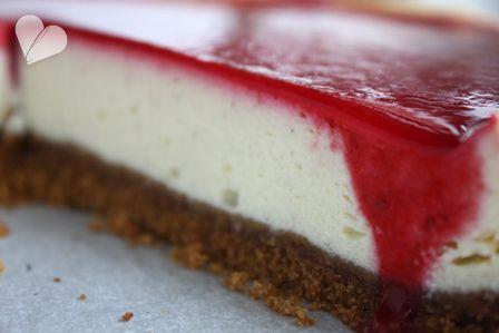 Dreierlei Liebelei: New York Cheesecake mit Himbeermousse