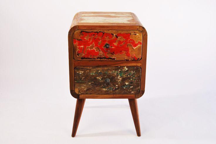 szawka drewniana z Indonezji, ręcznie wykonana z drewna tekowego, recyklingowanego ze starych łodzi