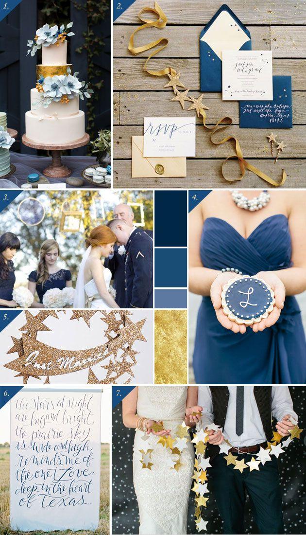 Starry nights wedding inspiration board | Häät tähtien alla - Best Day Ever