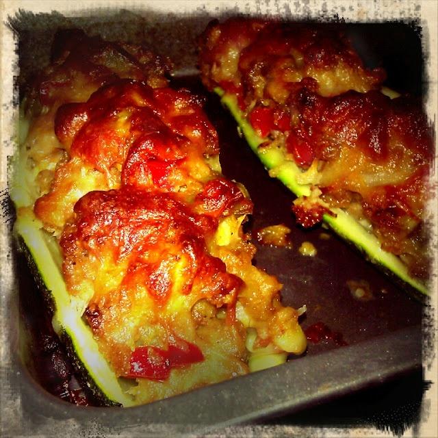 Mangiamo!: Sausage Stuffed Zucchini Boats