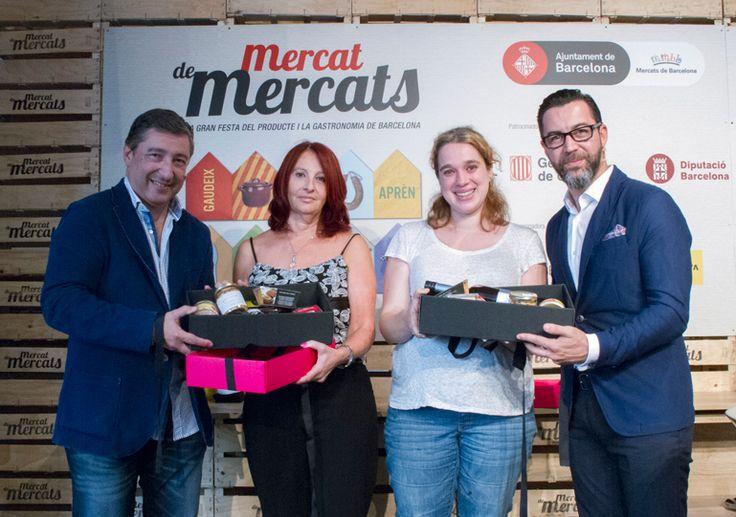 Les nostres guanyadores del #concurs La Recepta del Mercat de Mercats, amb els xefs Joan Roca i Quique Dacosta, que els van lliurar el #premi #mercatdemercats