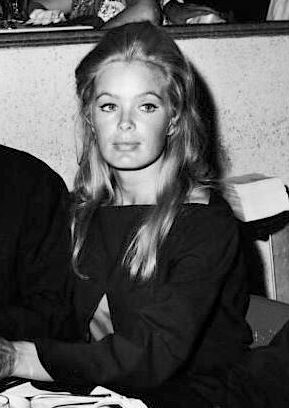 Linda Evans, 1968 All boatnecks are not the same. You can see how this one is slightly too severe for her. It needs just a touch more fabric to relax itself to be perfect.