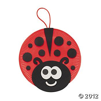 Paper Plate Ladybug Craft Kit, Decoration Crafts, Craft Kits & Projects, Craft & Hobby Supplies - Oriental Trading
