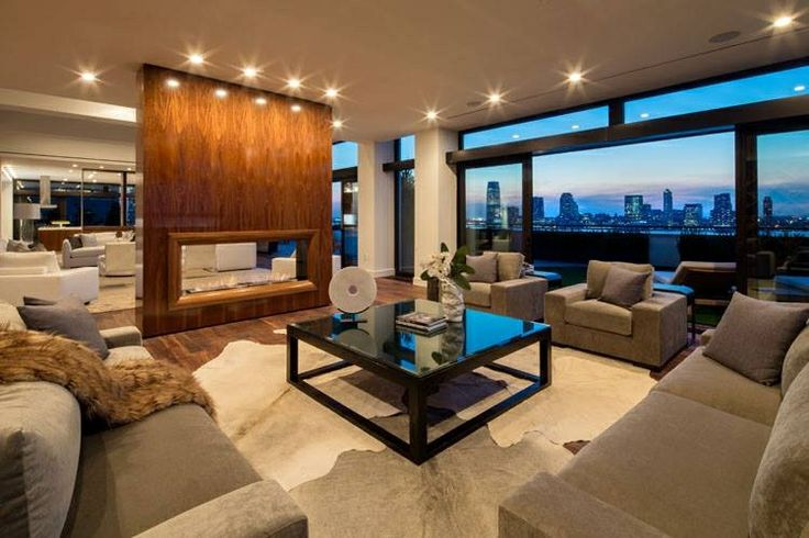 40 Million Dollar New York Penthouse Living Room Pent