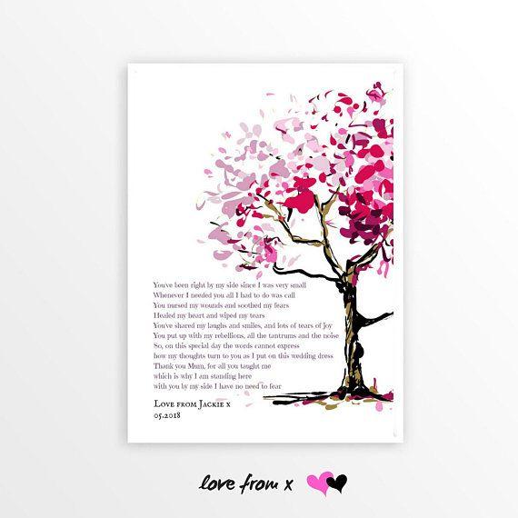 WEDDING POEM GIFT For Mom | Wedding Day Gift | Thank You