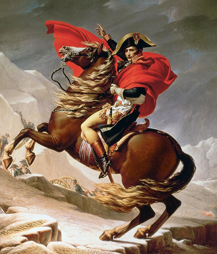 Napoleon Crossing The Alps Painting by Jacques Louis David