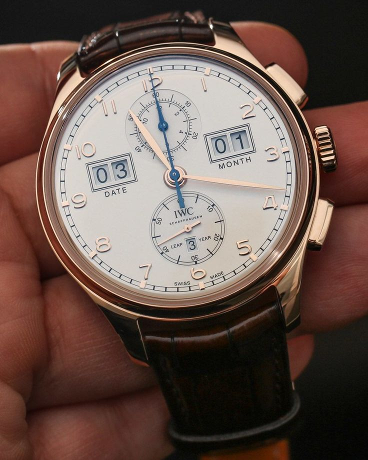 """IWC Watches Portugieser Perpetual Calendar Digital Date-Month Watch Hands-On - by Ariel Adams - """"As part of the 75th Anniversary of the Portuguese, ahem, I mean """"Portugieser"""" watch, IWC has added this Portugieser Perpetual Calendar Digital Date-Month watch to the family of popular dressy, yet also casual, yet also retro-sporty timepieces. Available in three versions, each Portugieser Perpetual Calendar Digital Date-Month model is part of a relatively small limited edition totaling just…"""