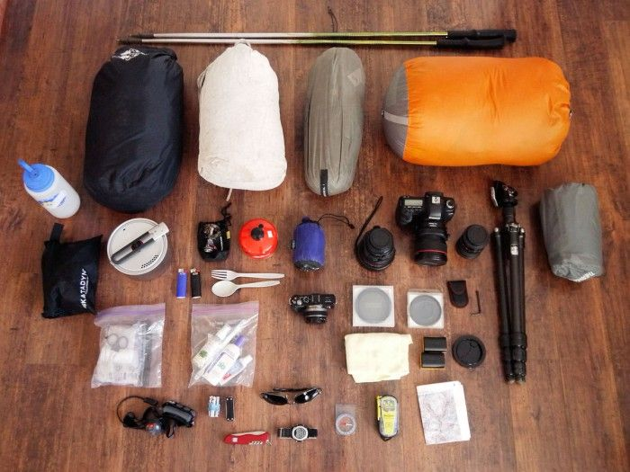 Summer and winter backpacking gear