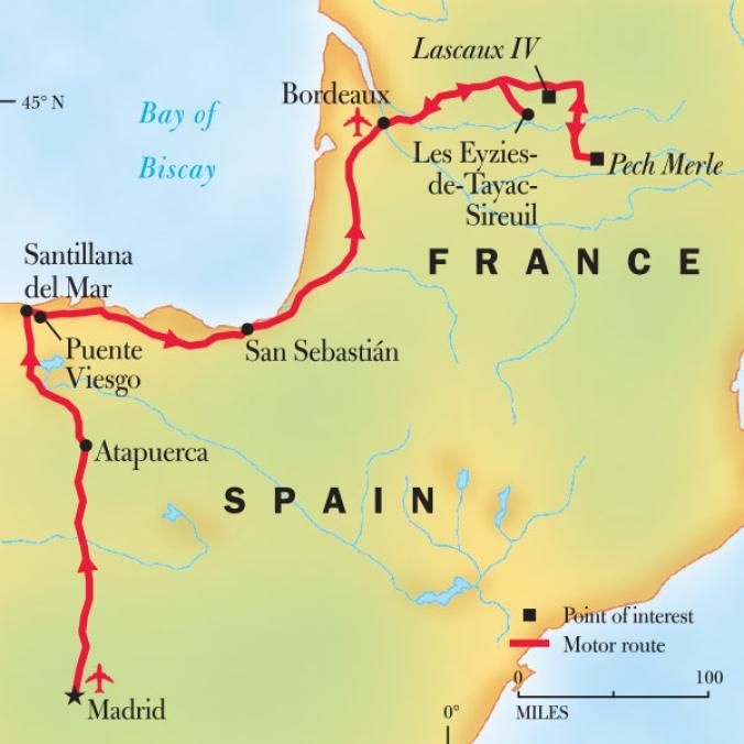 Map Of South West Spain.Southwest France Northern Spain Tour Cave Painting Tours