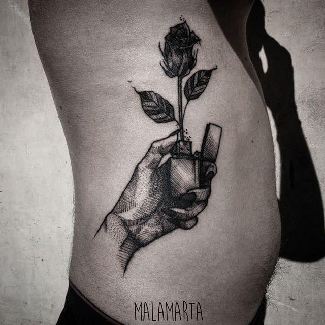 If you won't burn with me I'll burn alone @malamartaandink Only 5rl @rghtstuff  #tttism #tattrx #tattoolookbook #blackworkers_tattoossubmission #blackwork #darkartists #tattoo #tattoolife #ink #inked #inkedguys #tattooedhands #burn #lighter #zippo #zippotattoo @originalzippo #rose #tattoorose #tattoolighter #black #illustration #tattooillustration #londontattoo #londonink #italiantattooartists #inkstinctsubmission #tagforshares #malamartaandink