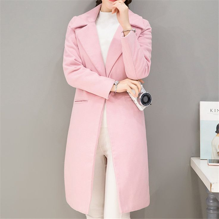 The ultimate strategy to Discount 4 Sale Price US $33.99 2017 Women Autumn Winter Coats Jackets Warm Wool Blends Vintage Solid Oversized High Quality Winter Long Coat Manteau Femme your sales #Wool#Blends