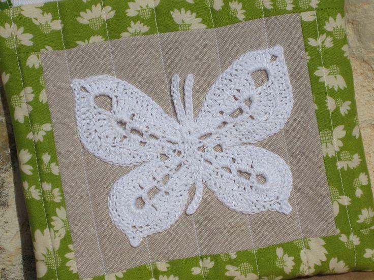 crochet butterfly ~ free pattern