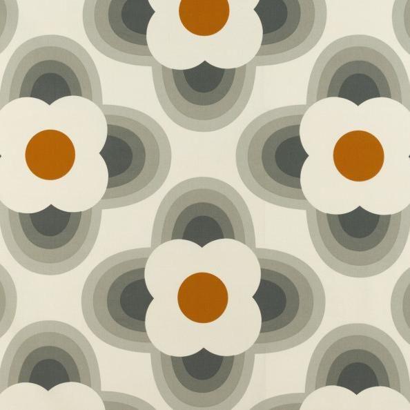 Orla Kiely Striped Petal Orange Orla Kiely Fabric Made To Measure Curtains Orange Fabric