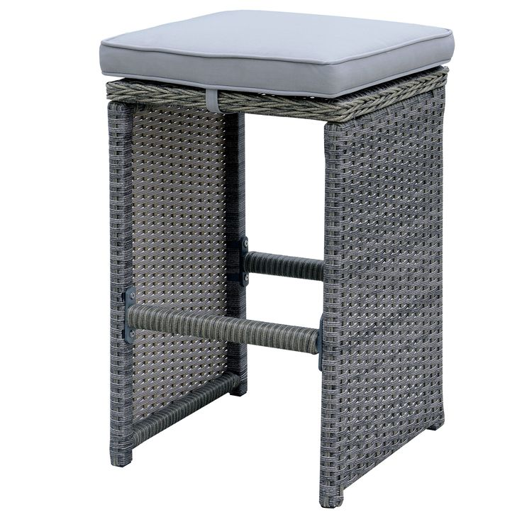 Furniture of America Liley Contemporary Outdoor Wicker Bar Stool