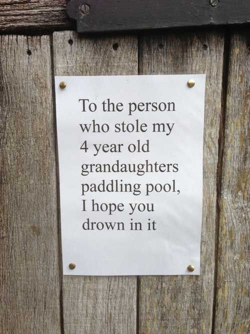 neighbor notes funny drown