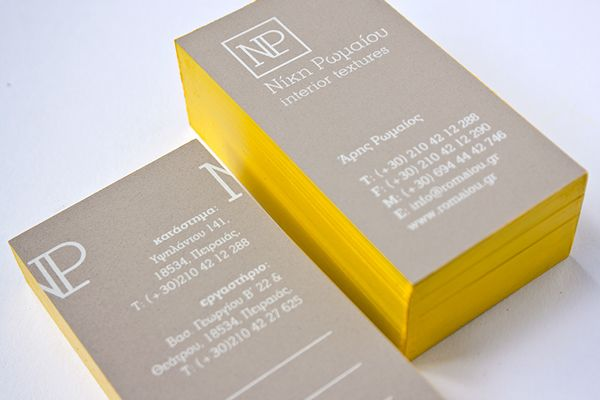 Romaiou Business card on Behance