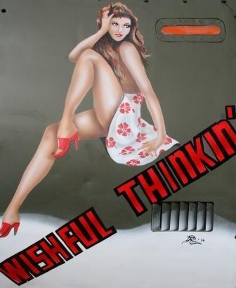 """Wishful Thinkin'"" Nose Art - Artwork By Don Ricci"