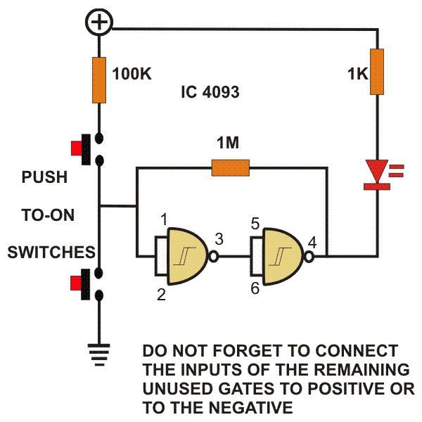 nandgate u202c circuit is a logic gate which produces an output which is false only if all its inputs