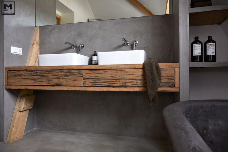 Zwarte Wasbak Badkamer ~   betonstuc badkamer 5 1 betonstuc badkamer molitli interieurmakers nl