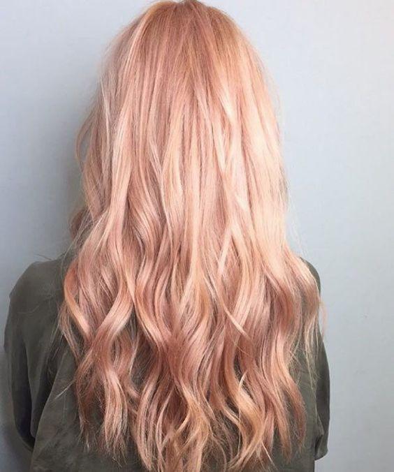 40 Trendy Rose Gold Hair Color Ideas - STYLE SKINNER http://styleskinner.com/40-trendy-rose-gold-hair-color-ideas/3/ #HairCareJobs