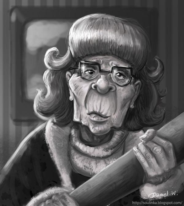 warrior grandma by Weronika Daniel, via Behance