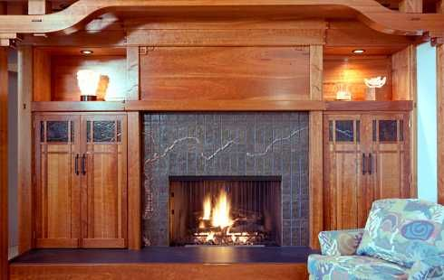 Wood Fireplace Surround Design . . . MORE Country Casual Mantels!