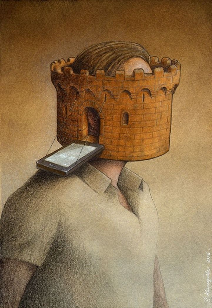 Artist Pawel Kuczynski highlights the visual power of satire through his ongoing series of surreal illustrations. Crafted in a realistic style, he plays wi
