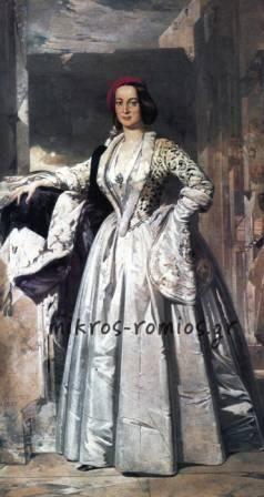 Η Βασίλισσα Αμαλία με εθνική ενδυμασία. Νικηφόρος Λύτρας 1893