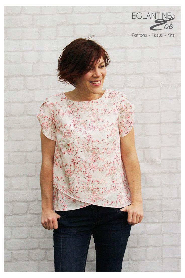 Patron de couture de la blouse Colibri par Eglantine et Zoé Sewing pattern Colibri Couture DIY Sewing Eglantine et Zoé