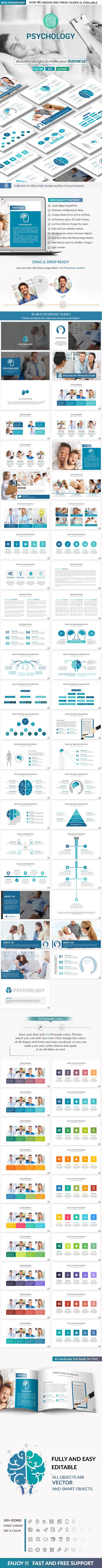 Psychology PowerPoint Presentation Template - #Creative #PowerPoint #Templates Download here:  https://graphicriver.net/item/psychology-powerpoint-presentation-template/19504210?ref=alena994