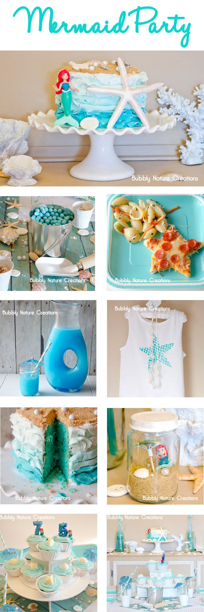 mermaid party plans - Bubbly Nature Creations Love the pasta salad idea