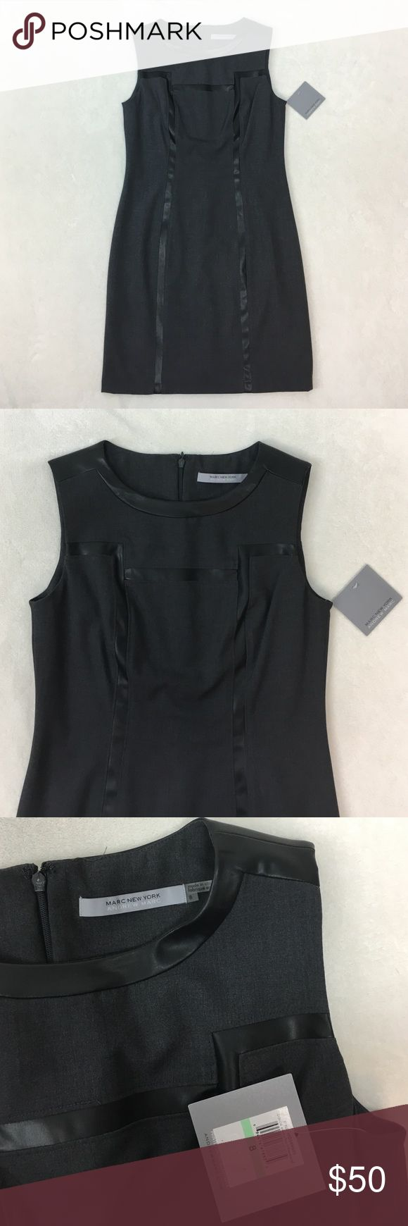 "NWT Andrew Marc New York Gray Sleeveless Dress 8 New with tags Marc New York Andrew Marc  Gray Dress  Womens Size 8 - bust measures 18"" across, 35.5"" long Andrew Marc Dresses Mini"
