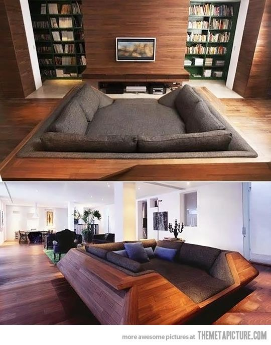 I would crawl in and never come out…- oh man das ist doch wohl die coolste Couch…