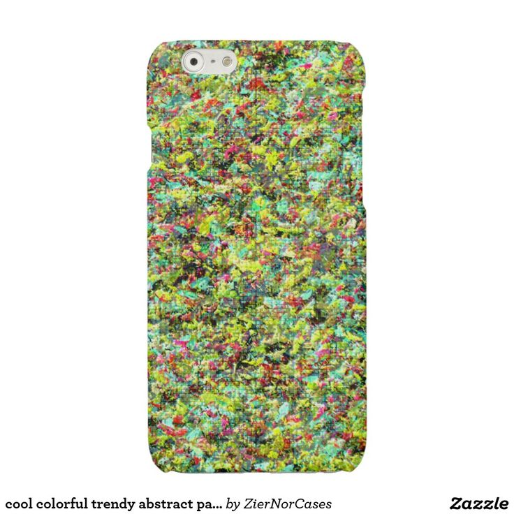 cool colorful trendy abstract pattern glossy iPhone 6 case