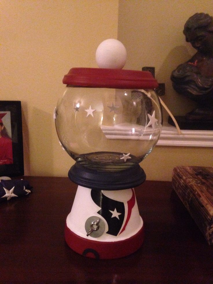 Made A Houston Texans Candy Jar As Prizes For My Baby