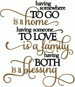 Silhouette Online Store - View Design #50600: home, family, blessing - vinyl phrase
