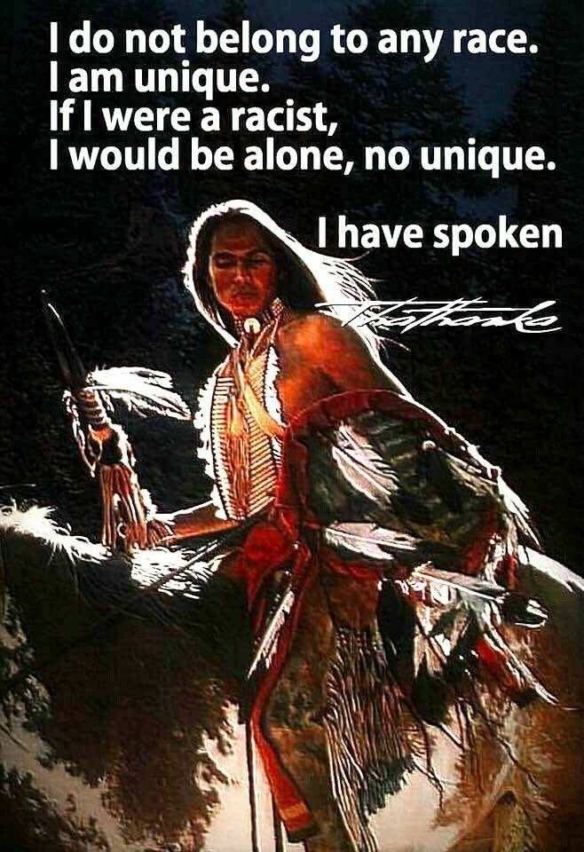 I am Native American.