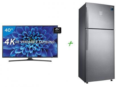 """Smart TV LED 40"""" Samsung 4K/Ultra HD 40KU6000 - Conversor Digital Wi-Fi + Geladeira/Refrigerador com as melhores condições você encontra no Magazine Shopingstar. Confira! Ótima oferta para quem está mobiliando sua casa!"""