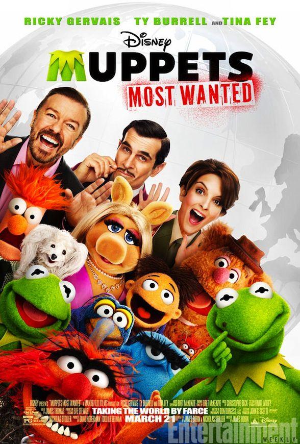 Póster de 'Muppets Most Wanted', la secuela de 'Los Muppets'
