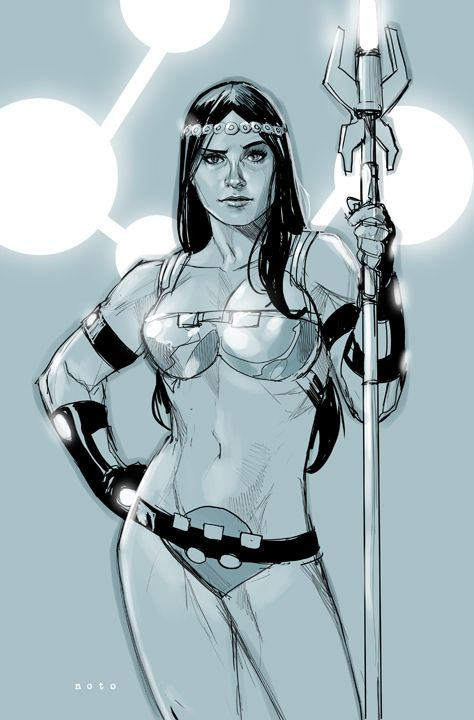 Big Barda - done for this week's cosmic theme at the WhatNot Blog -http://whatnotisms.blogspot.com/