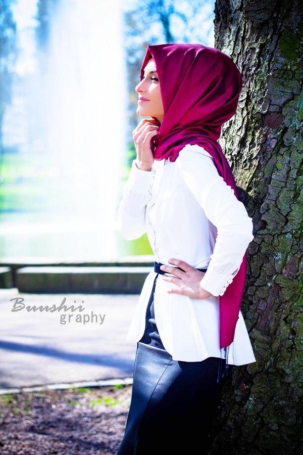 How to Wear White Jackets  9 Hijab Styles 0172ef6ebbfb09147da7c3d421cc2986