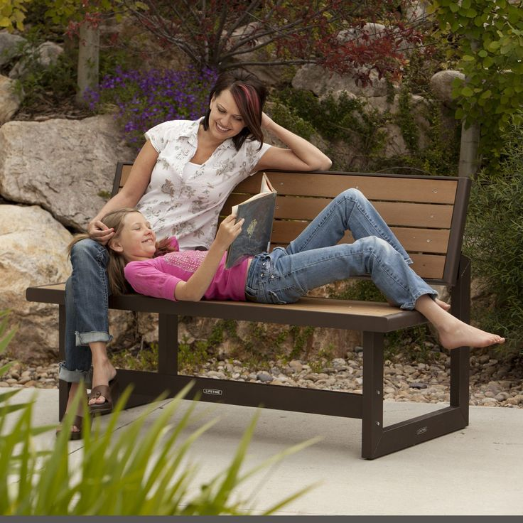 Lifetime Products Wood Grain Convertible Bench 60054