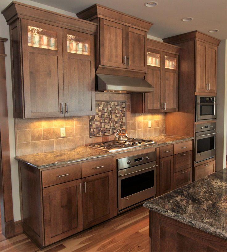 Thumb Kitchen Shaker Style Quartersawn Oak Recessed Panel ...