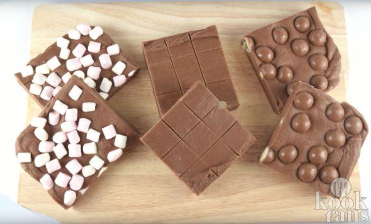Voor deze chocolade fudge heb je maar 2 ingrediënten nodig en een magnetron!