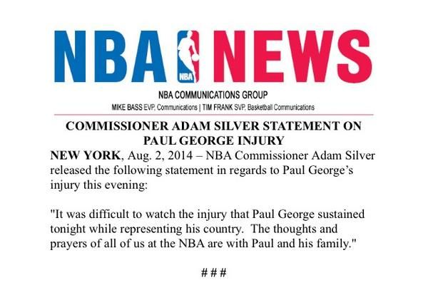 NBA Star Paul George Suffers Gruesome Leg Injury During Team USA Scrimmage