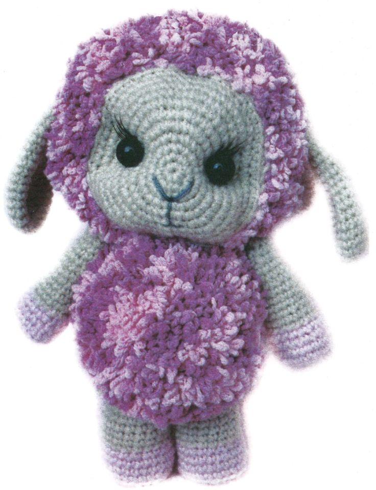 Оригинальная овечка, связанная крючком. Crochet. Вязание крючком