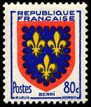 Armoiries du Berri Armoiries des provinces françaises (Sixième série) - Timbre de 1953